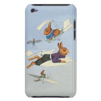 Conejos divertidos del vuelo del vintage - iPod touch Case-Mate funda