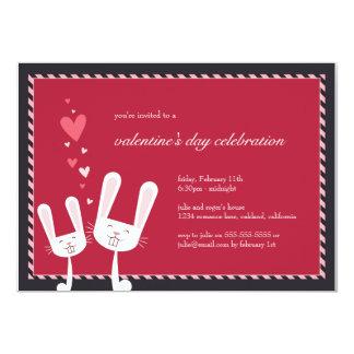 Conejos en la invitación del fiesta de la tarjeta invitación 12,7 x 17,8 cm