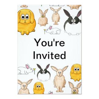 Conejos Invitación 12,7 X 17,8 Cm