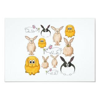Conejos Invitación 8,9 X 12,7 Cm