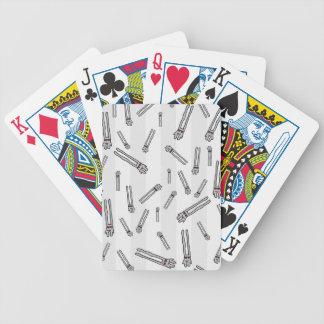 Conejos lindos en amor cartas de juego