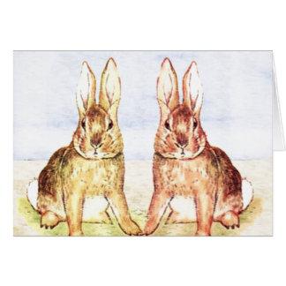 Conejos Tarjeta De Felicitación