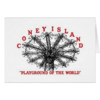 Coney Island Nueva York - patio del mundo Felicitación