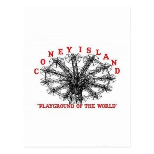 Coney Island Nueva York - patio del mundo Tarjetas Postales