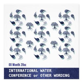 Conferencia de la energía del ambiente del agua co invitación personalizada