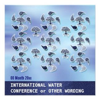 Conferencia de la energía del ambiente del agua de invitaciones personalizada