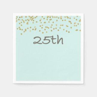 Confeti 25to del purpurina servilleta de papel