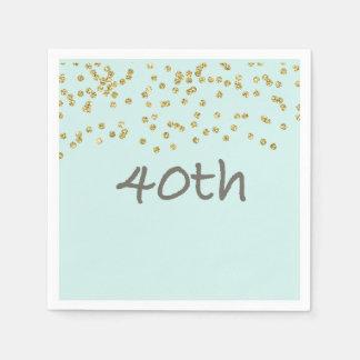 Confeti 40.o del purpurina servilleta de papel