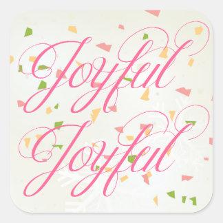 Confeti alegre - pegatina cuadrado