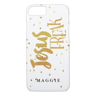Confeti anormal del oro de Jesús del falso oro Funda iPhone 7