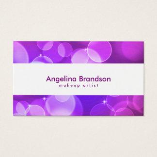 Confeti blanco fresco y único tarjeta de negocios