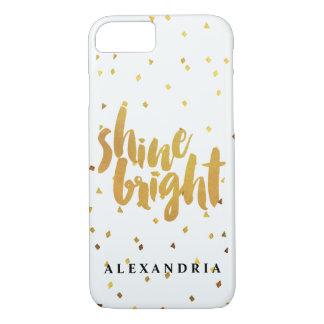 Confeti brillante del oro del brillo funda iPhone 7