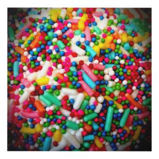 confeti del caramelo cuadro