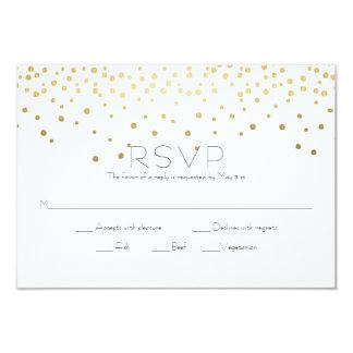 Confeti elegante del oro que casa RSVP Invitación 8,9 X 12,7 Cm