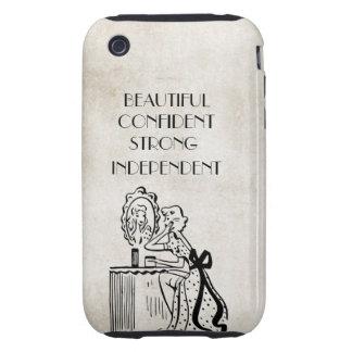 Confiado hermoso fuerte retro del espejo de la tough iPhone 3 cárcasa