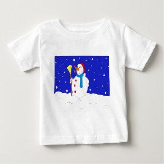 Confiado-Nieve-Hombre-Escena Camiseta De Bebé