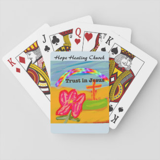 Confianza curativa de la iglesia de la esperanza baraja de cartas