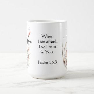 Confianza de la escritura de la biblia del 56:3 taza de café