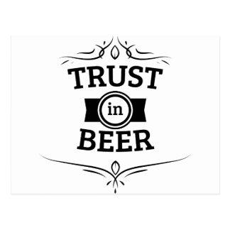 Confianza en cerveza postal