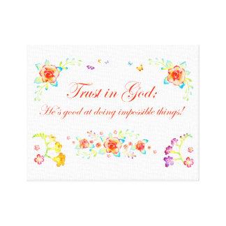 Confianza en dios lienzo