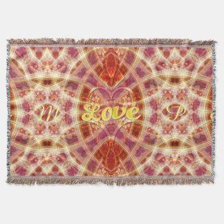 Confianza en la manta tejida arte geométrico del