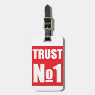 Confianza nadie etiqueta para maletas