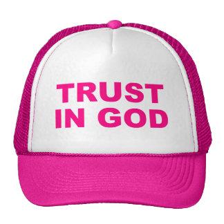 Confianza para mujer en gorra de dios