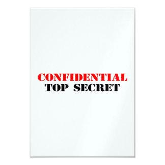 Confidencial Invitación 8,9 X 12,7 Cm