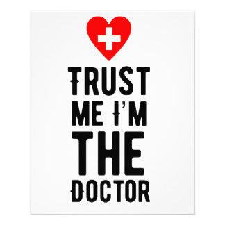 Confíe en al doctor folleto 11,4 x 14,2 cm