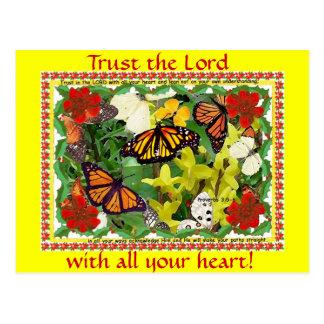 ¡Confíe en al señor con todo su corazón! postal