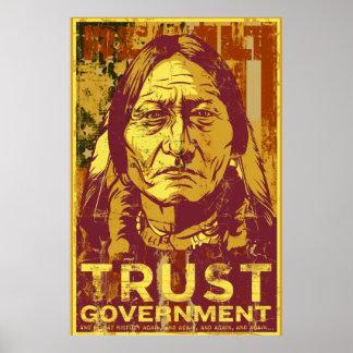 Confíe en el poster del gobierno