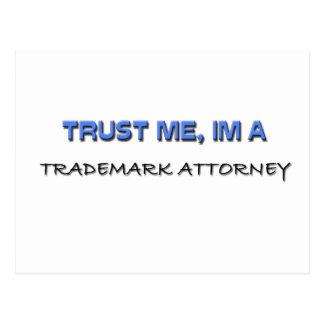 Confíe en que yo es abogado de la marca registrada tarjetas postales