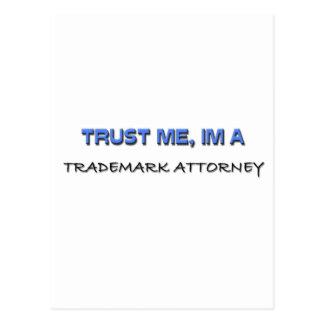 Confíe en que yo es abogado de la marca registrada tarjeta postal