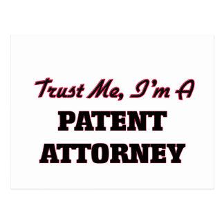Confíe en que yo es abogado de patentes tarjeta postal