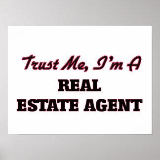 Confíe en que yo es agente inmobiliario impresiones