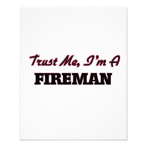 Confíe en que yo es bombero tarjetas publicitarias