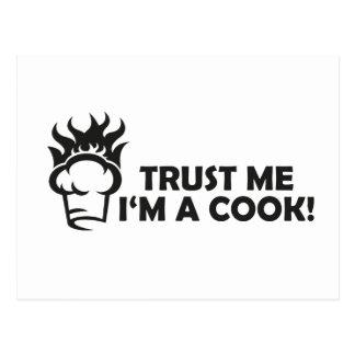 ¡Confíe en que yo es cocinero! Postal