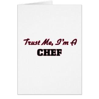 Confíe en que yo es cocinero felicitación