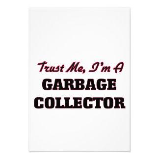 Confíe en que yo es colector de basura invitacion personalizada