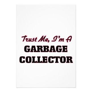 Confíe en que yo es colector de basura invitación personalizada