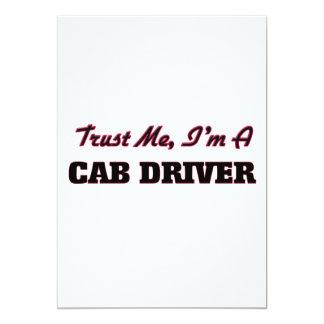 Confíe en que yo es conductor de taxi invitación 12,7 x 17,8 cm