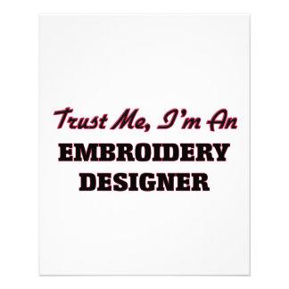 Confíe en que yo es diseñador del bordado tarjetones