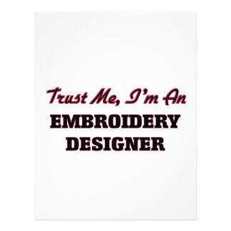 Confíe en que yo es diseñador del bordado tarjeton