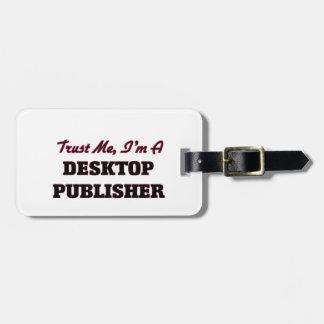 Confíe en que yo es editor de escritorio etiquetas maletas