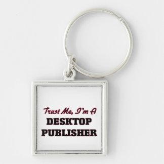 Confíe en que yo es editor de escritorio llavero personalizado