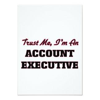 Confíe en que yo es ejecutivo de cuenta invitación 12,7 x 17,8 cm