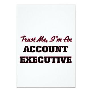 Confíe en que yo es ejecutivo de cuenta invitación 8,9 x 12,7 cm