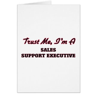 Confíe en que yo es ejecutivo de la ayuda de las tarjeta de felicitación
