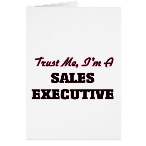 Confíe en que yo es ejecutivo de ventas tarjetón