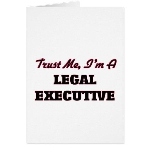 Confíe en que yo es ejecutivo legal felicitaciones